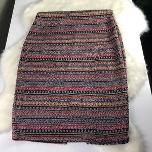 Zara Trafaluc Tribal Print Skirt